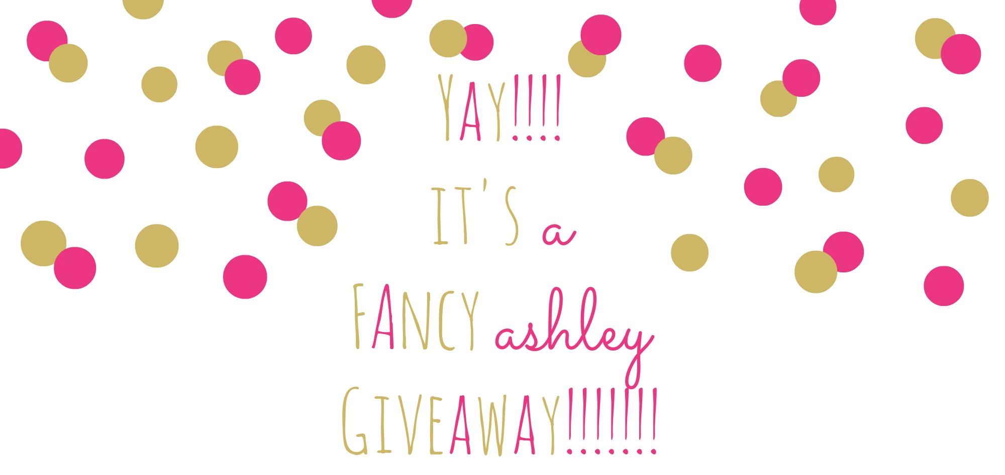Fancy Ashley Giveaway Header