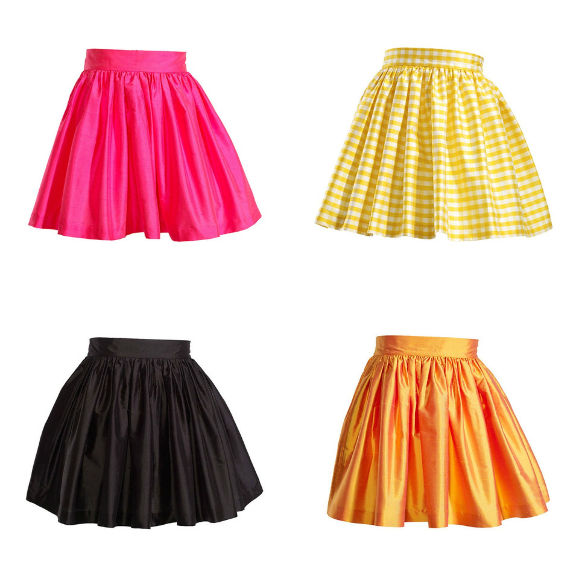 party skirt collage